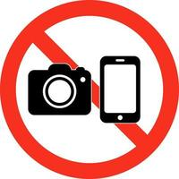 photography camera usage prohibition sign vector