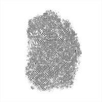 fingerprint forensic security realistic illustration vector