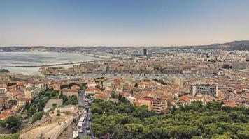 Marseille panorama in the evening photo
