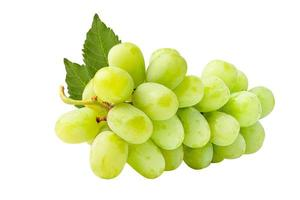 Fresh green grape isolated on white background. photo