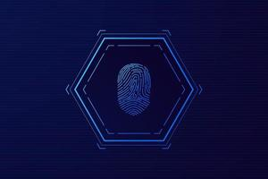 scan fingerprint, Cyber security and password control through fingerprints, access with biometrics identification vector