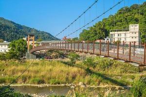 Kangji Suspension Bridge at Miaoli county, taiwan photo