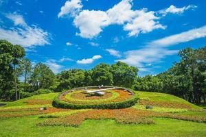 Floral clock of Youth Park in Taipei, Taiwan. photo