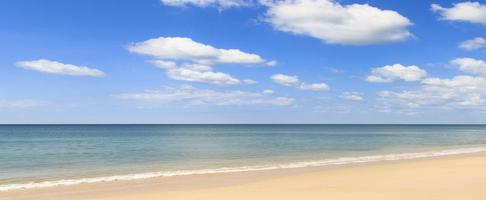 Beautiful seascape panorama photo