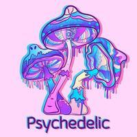 Three colorful mushrooms vector