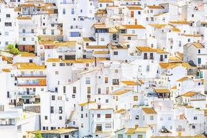 White houses in Casares village, Andalusia photo