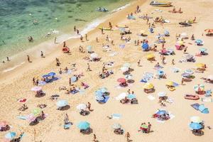 Benagil beach on the Atlantic coast, Algarve, in Portugal. photo