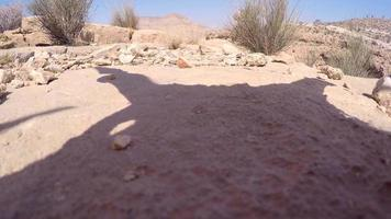 The shadow of a drone uav. video