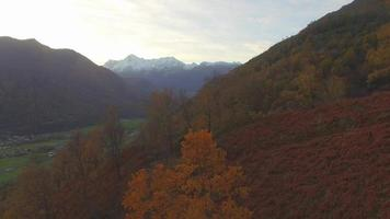 Aerial landscape in the mountains. video