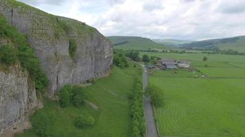 Aerial view of a green landscape. video