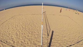 An empty beach volleyball court. video