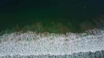 antenn drone uav utsikt över stranden och havet. video
