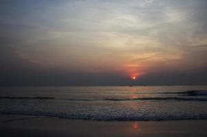 Sunrise at the beach photo