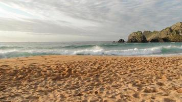 empty beach, Atlantic ocean, north of Spain photo