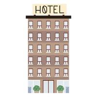 hotel edificio urbano vector