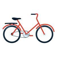 bicicleta de transporte de la ciudad vector