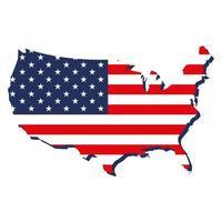 USA map and flag vector