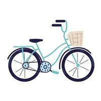 bike with basket vector