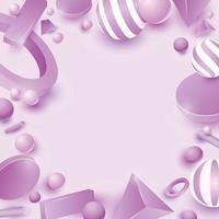 Pastel Purple 3D Design vector