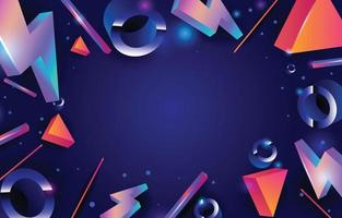 Abstract Geometric Element Decoration vector