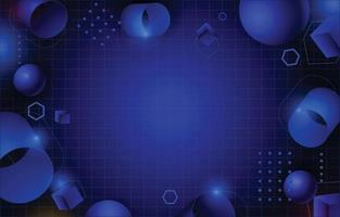 Blue Abstract Geometric Decoration vector