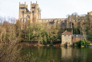 castillo de durham, catedral y desgaste del río, reino unido foto