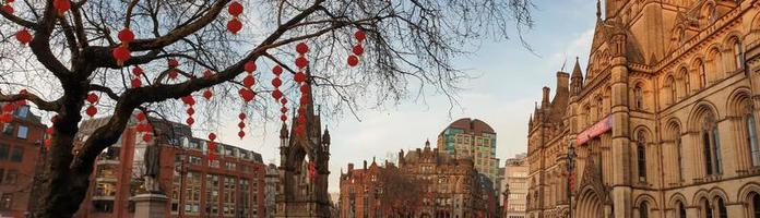 Manchester Town Hall Chinese New Year lantern decorations in Manchester photo