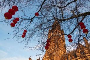 Manchester Town Hall Chinese New Year lantern decorations in Manchester, UK photo