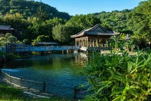 Park of the Gugong Palace Museum in Taipei in Taiwan photo