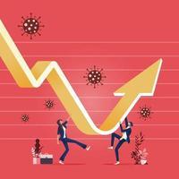 concepto de recuperación económica-empresario para la recuperación de la crisis financiera vector