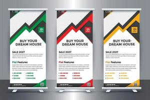 Free Real Estate Roll-Up Banner Design for Real  Estate Company with Vector
