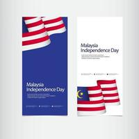 Malaysia Independence Day Celebration Vector Template Design Illustration