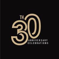 Ilustración de diseño de plantilla de vector de celebración de 30 aniversario