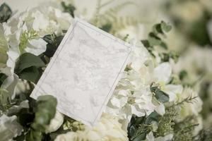 Wedding reception invitation card photo