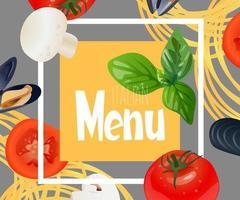 Italian menu design. vector