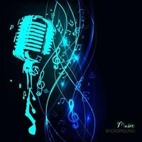 Vector illustration of an abstract background with music notes.