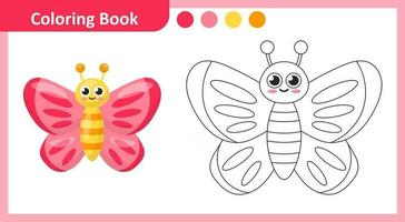 Coloring Book Butterfly vector