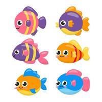 lindo pez vector
