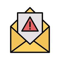 icono de correo no deseado vector