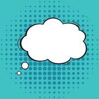 Catoon de nube de burbuja de pensamiento cómico aislado vector