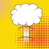 nube de explosión cómica aislada vector