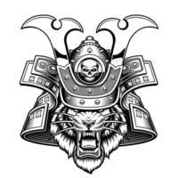 Vector illustration of a tiger samurai