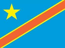 Democratic Republic of the Congo officially flag vector