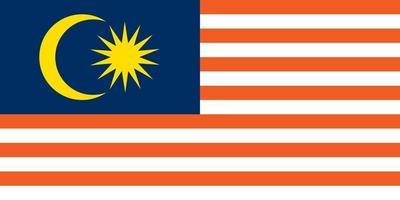 Malaysia officially flag vector