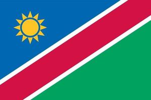 Namibia officially flag vector