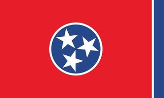 Tennessee officially flag vector