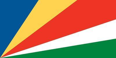 Seychelles officially flag vector