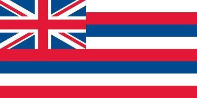 Hawaii officially flag vector
