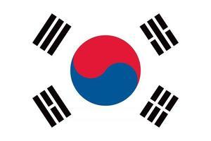 South Korea officially flag vector