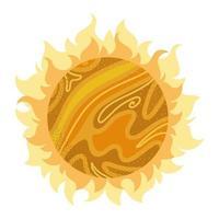 space sun burning icon vector